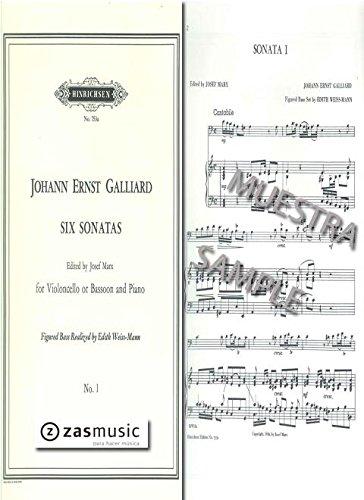 Sonata a minor no.1 : for violoncello(bassoon) and piano: Johann Ernst Galliard