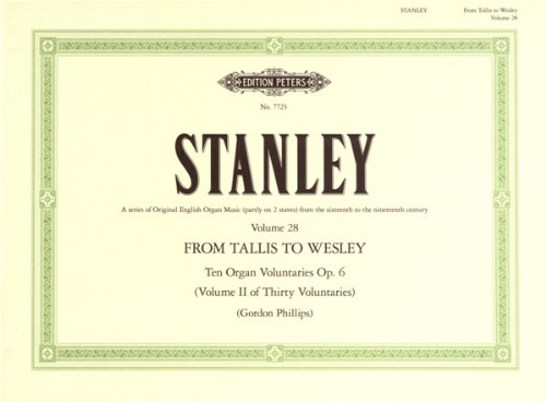 10 Voluntaries op.6 : for organ: John Stanley