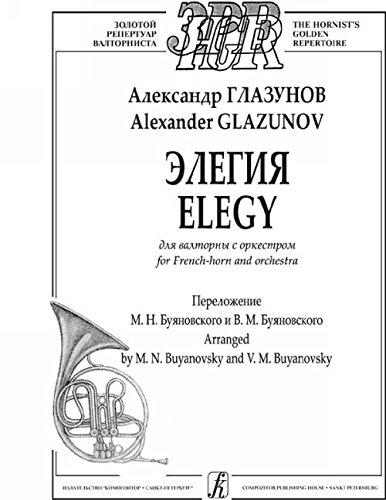 9790660037089: Elegy for French-horn and orchestra. Arranged by M. Buyanovsky and V. Buyanovsky. Score