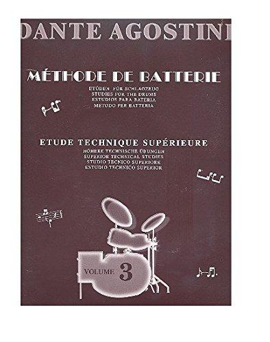 Dante Agostini: Methode De Batterie: Volume 3 (Drums / Instrumental Tutor)