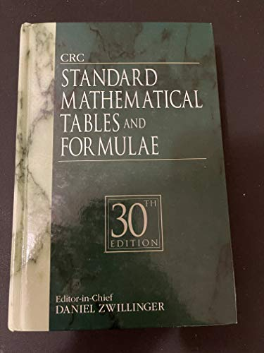 Crc Standard Mathematical Tables And Formulae, 30/E: Selby, Samuel M.