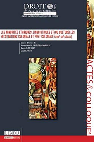 MINORITES ETHNIQUES LINGUISTIQUES ET/OU: DE GAYFFIER-BONNEVIL