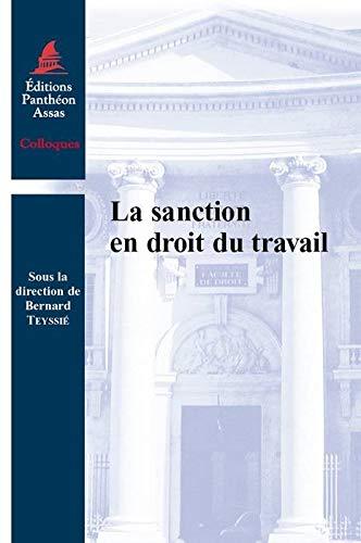Sanction en droit du travail (la): Collectif