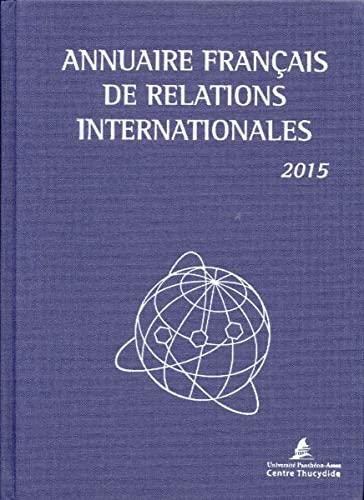 Annuaire français des relations internationales 2015