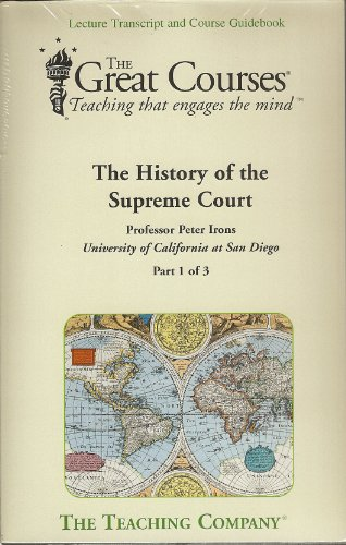 The History of the Supreme Court (Complete Set) (The Great Courses Teaching That Engages the Mind):...