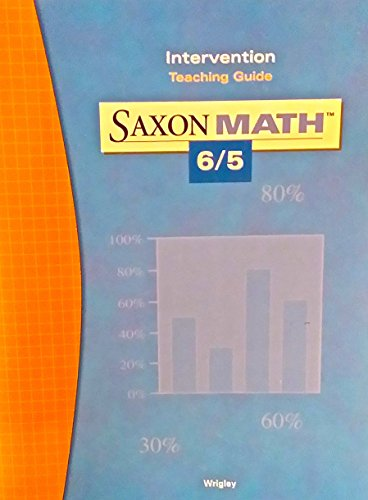 Intervention Teaching Guide - Saxon Math 6/5: Wrigley