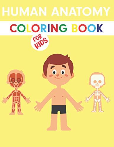 9798570679986: Human Anatomy Coloring Book For Kids: Human Figure Anatomy Coloring Book   Children's First Science Coloring Books ages 4-8   Coloring Book For Anatomy Lovers
