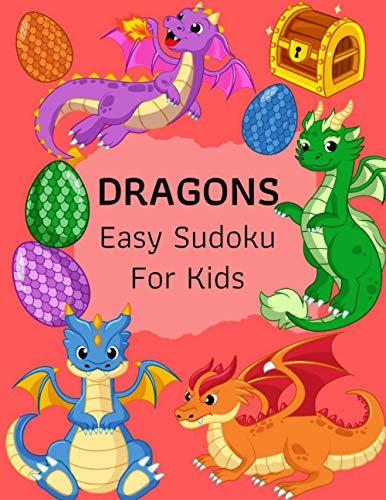 Dragons Easy Sudoku For Kids: The Super: Dragons Love Design