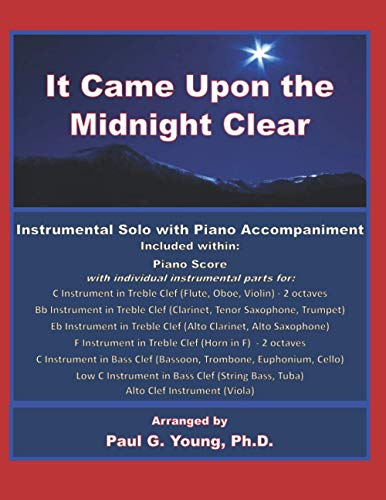 9798585489662: It Came Upon the Midnight Clear: Instrumental Solo with Piano Accompaniment (Christmas Instrumental Solos with Piano Collection)