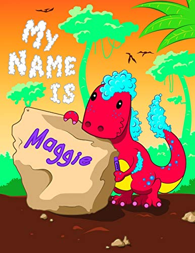 9798602528145: My Name is Maggie: 2 Workbooks in 1! Personalized Primary Name and Letter Tracing Book for Kids Learning How to Write Their First Name and the ... for Children in Pre-k and Kindergarten