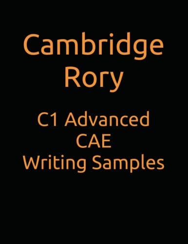 9798654938503: C1 Advanced CAE Writing Samples (Cambridge English Exams)