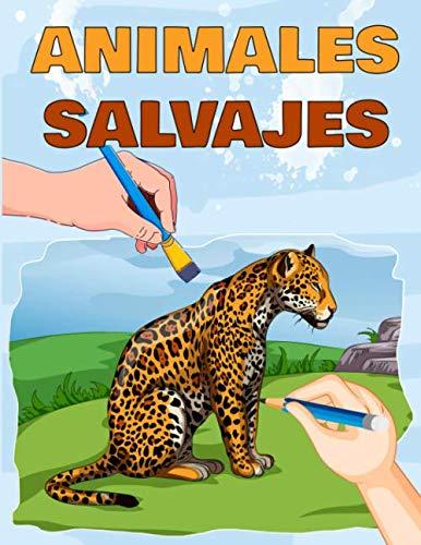 9798665590622: Animales Salvajes: Libro para Colorear de Animales Realistas para Adultos y Niños